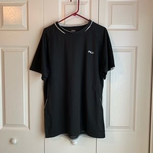 Men's black FILA shirt